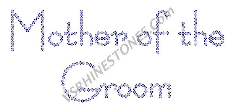 Mother of the Groom - Modern Rhinestone Transfer
