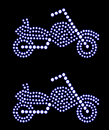 Motorcycle Mini two pack Rhinestone Transfer