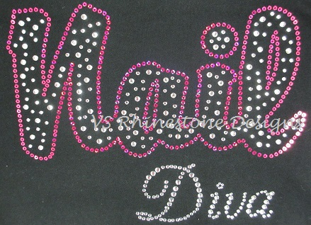 Nail Diva Rhinestone and Sequin Transfer Combo