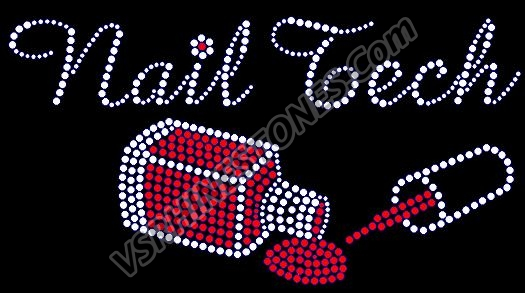 Nail Tech Rhinestone Transfer