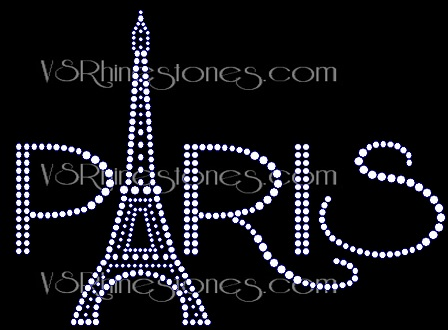 Paris Rhinestone Transfer