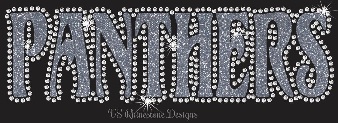 Panthers UN - Rhinestone Transfer Cut File Combo