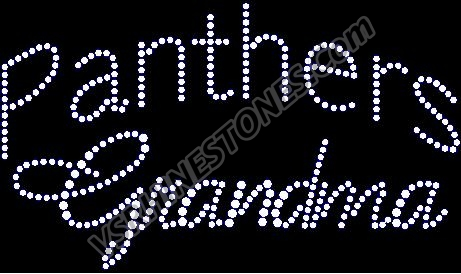 Panthers Grandma Rhinestone Transfer