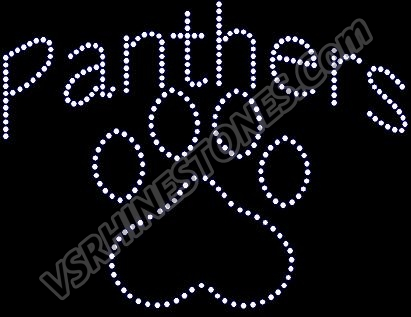 Panthers Paw Rhinestone Transfer