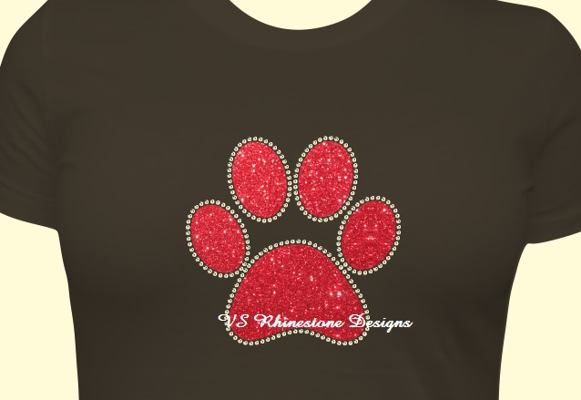 Paw Vinyl and Rhinestone Transfer