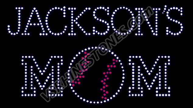 Baseball Mom - Personalized Rhinestone Transfer