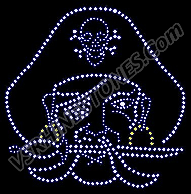 Pirate small crystal Rhinestone Transfer