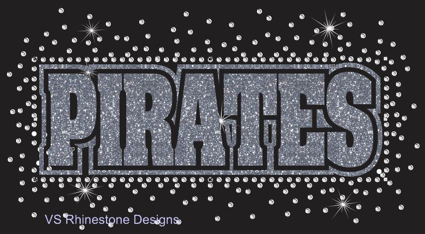 Pirates Reverse Vinyl and Rhinestone Transfer