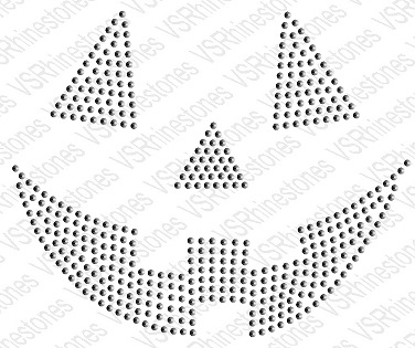 PumPkin Sequin Face Transfer - Black