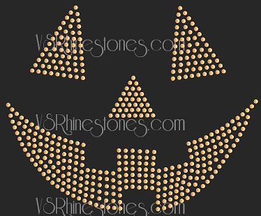 Pumpkin Sequin Face Transfer - Orange