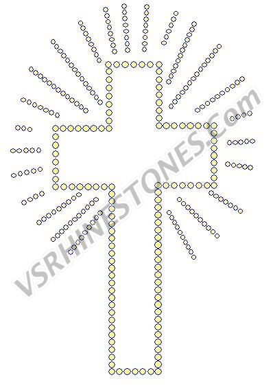 Radiant Cross Rhinestone Transfer