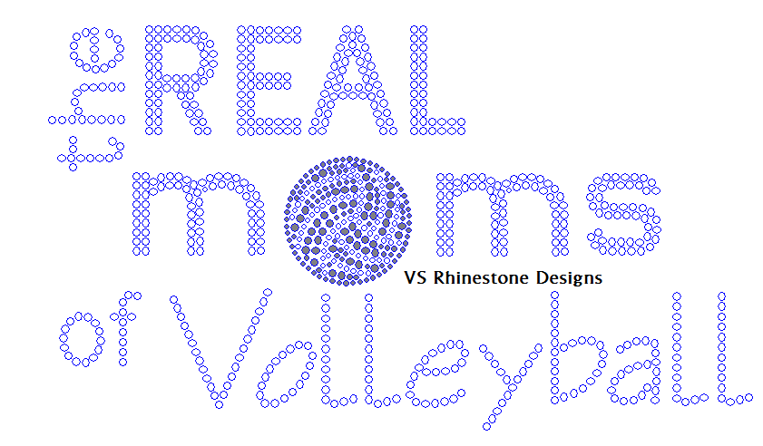 The Real Moms of Volleyball Rhinestone Transfer