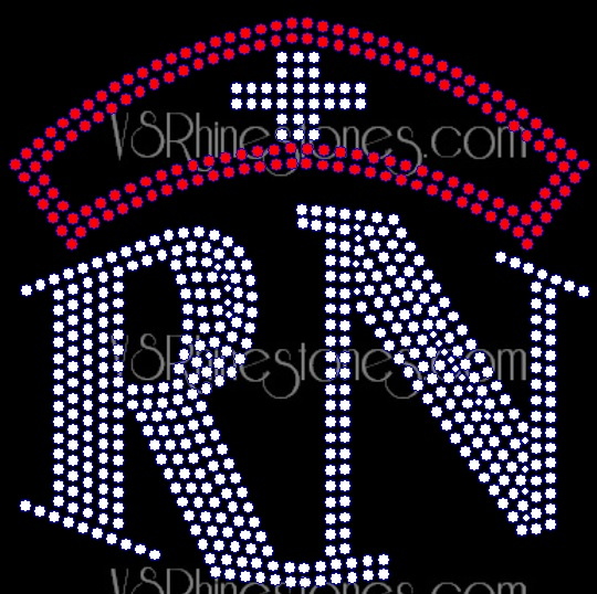 Registered Nurse RN Rhinestone Transfer