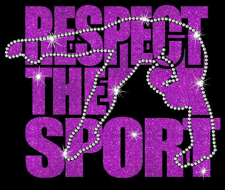 Respect the Sport Girl Vinyl and Rhinestone Transfer