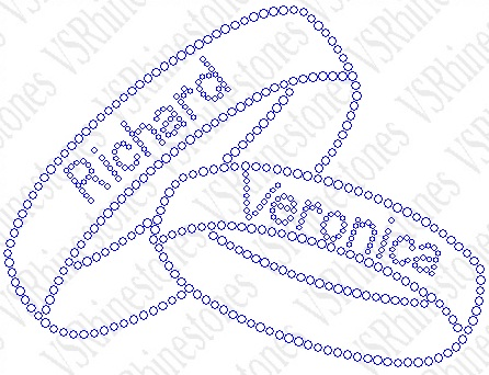 Wedding Bands - Personalized Rhinestone Transfer
