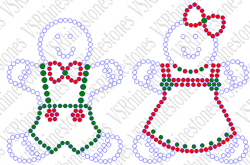 Gingerbread People Rhinestone Transfer