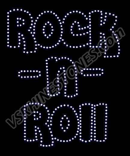 Rock -n- Roll Rhinestone Transfer (Bubble)