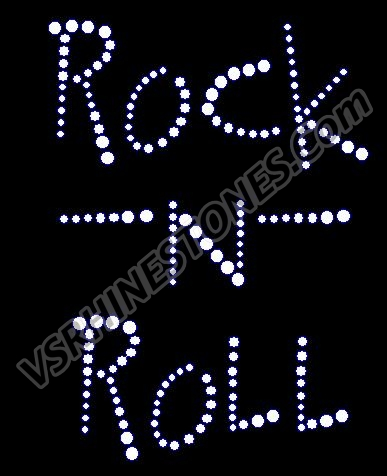 Rock -n- Roll Rhinestone Transfer (Wild)