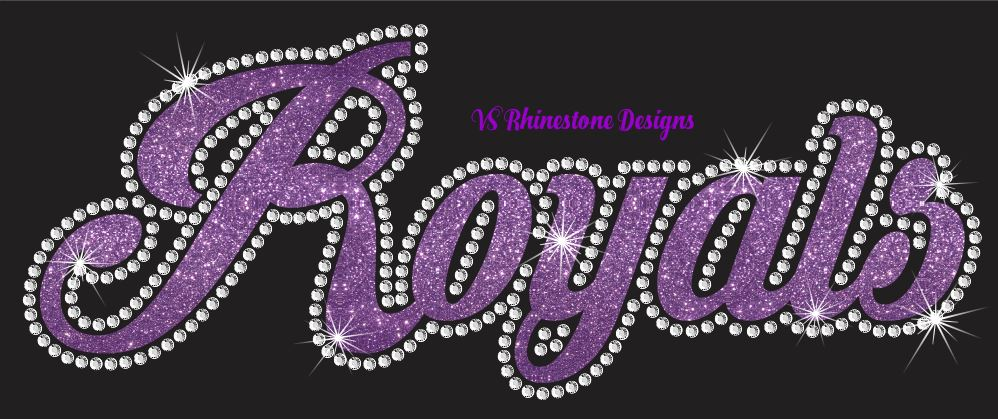 Royals Cursive Vinyl and Rhinestone Transfer