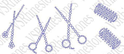 Scissor and Roller Pack Rhinestone Transfer