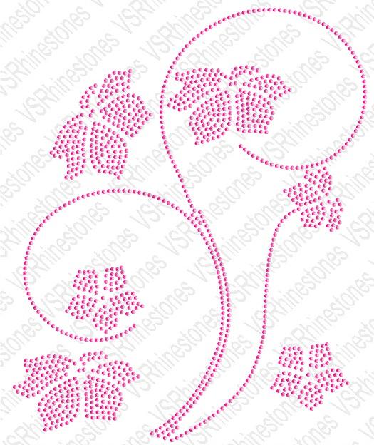 Floral Stem Hotfix Sequin Design Fs596931 5 27 Vs