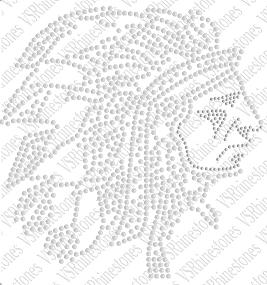 Indian Head LARGE Sequin - Green
