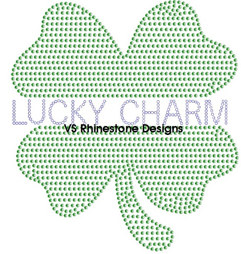 Lucky Charm Rhinestone and Sequin Transfer