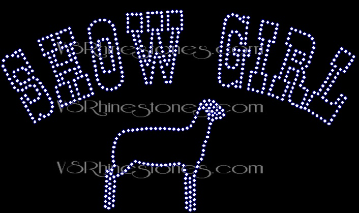 Show Girl Rhinestone Transfer - Sheep