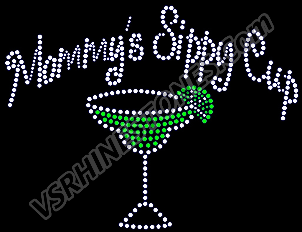 Mommy's Sippy Cup - Margarita Rhinestone Transfer