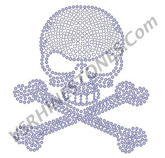 Skull - Filled Rhinestone Transfer