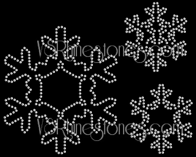 Snowflake Assorted Sequin Heat Transfer