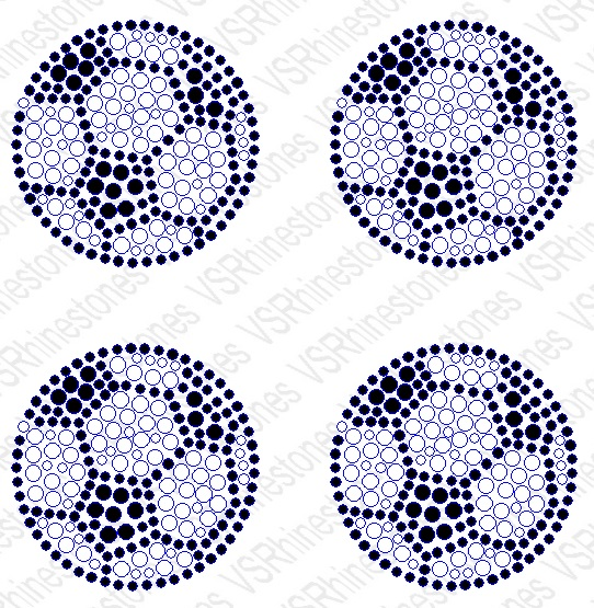 Soccer Mini Filled Rhinestone Transfers (4)