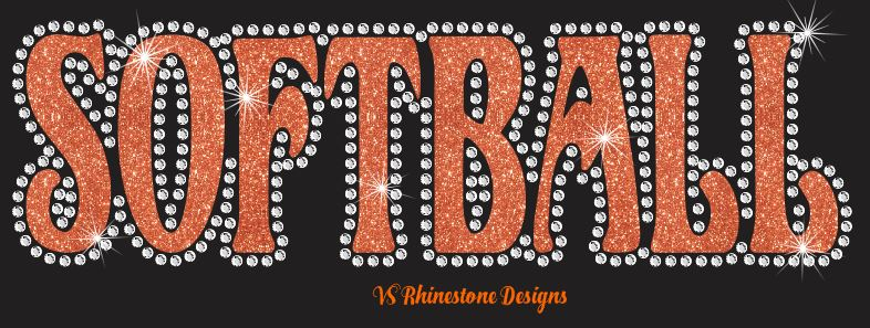 Softball UN - Rhinestone Transfer Cut File Combo