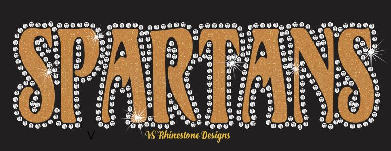 Spartans UN - Rhinestone Transfer Cut File Combo
