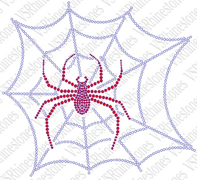 -Spiderweb Large Rhinestone Transfer
