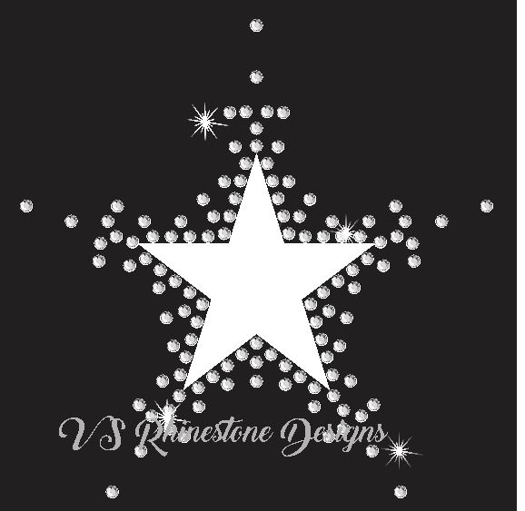 Star Vinyl and Rhinestone Transfer