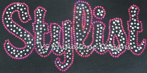 Stylist Rhinestone and Sequin Transfer Combo