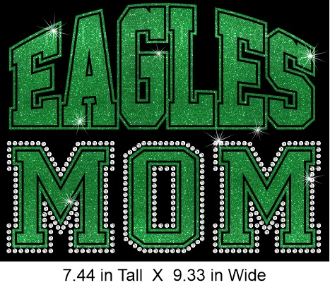 Mascot Team Mom Vinyl and Rhinestone Transfer