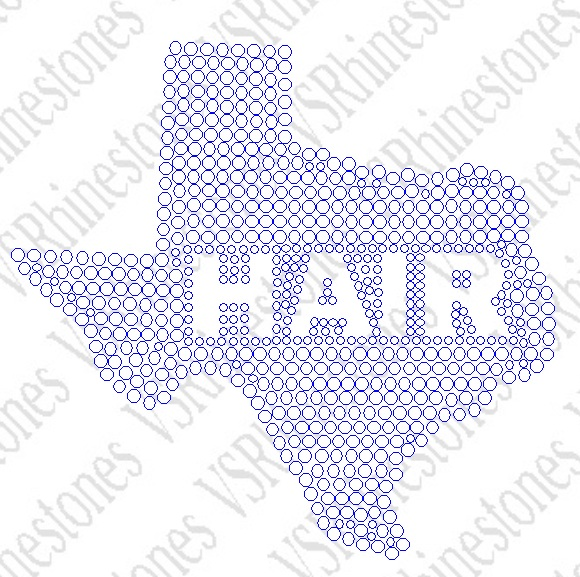 Texas Hair Rhinestone Car Decal