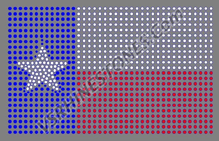 Texas Flag Rhinestone Transfer