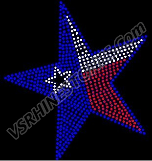 Texas Star - Red White Blue - CAR DECAL
