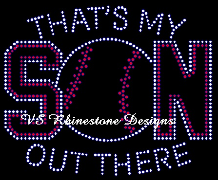 That's My Son Baseball Rhinestone Transfer