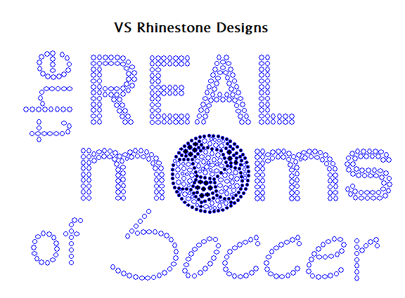 The Real Moms of Soccer Rhinestone Transfer