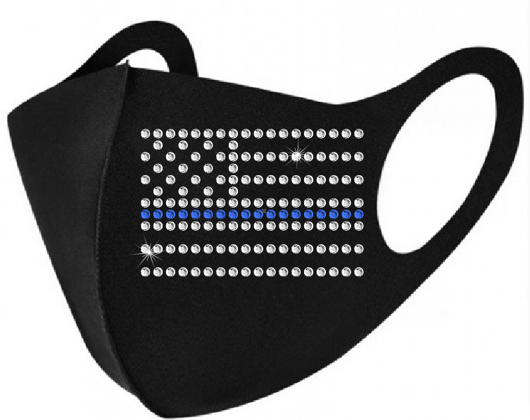 Face Mask - Thin Blue Line American Flag