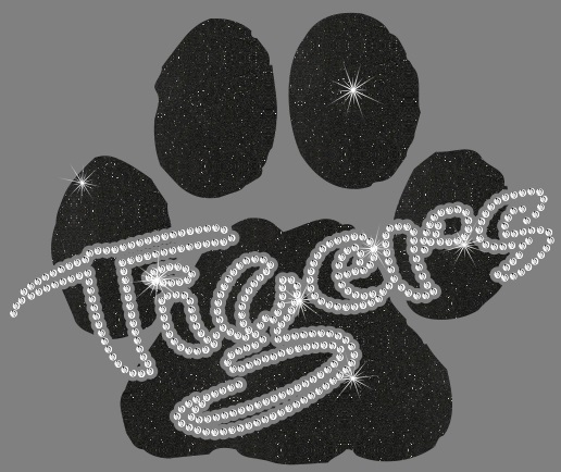 Tigers Paw CO Vinyl and Rhinestone Transfer