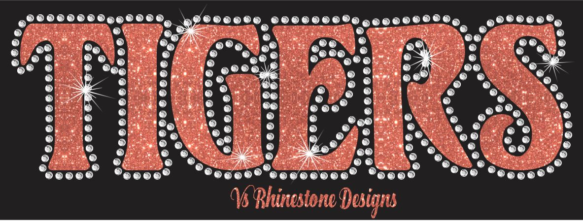 Tigers UN - Rhinestone Transfer Cut File Combo