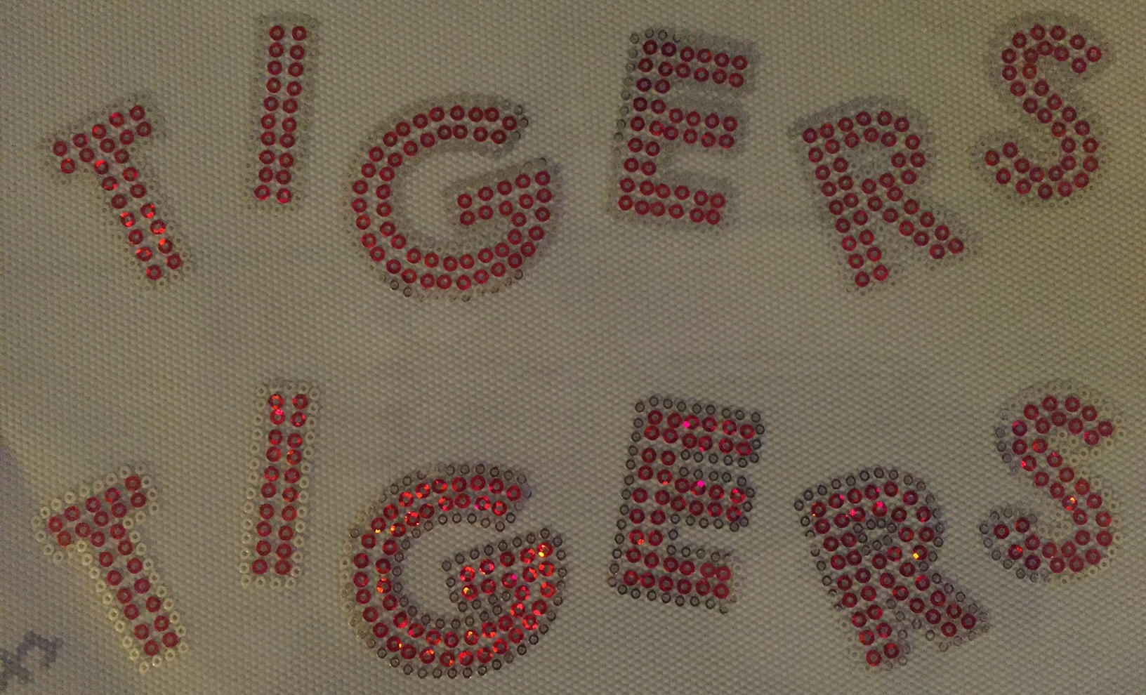 Tigers sequin Word (2) - RED