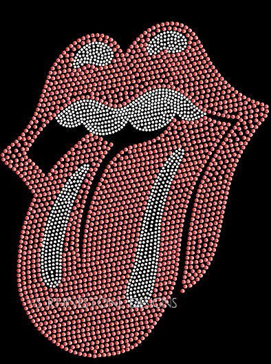 Wacky Mouth Sequin Lips and Tongue Heat Transfer