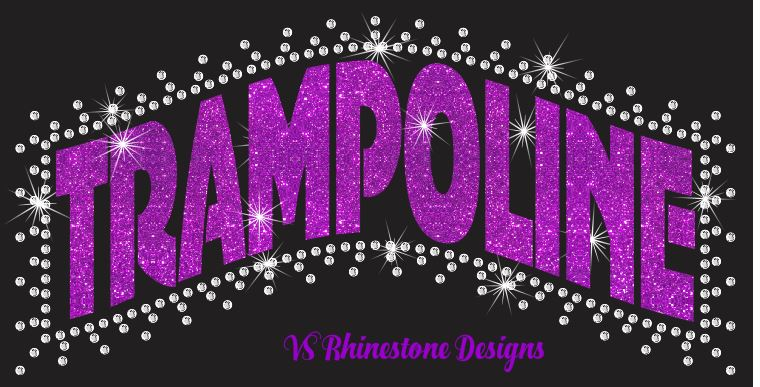 Trampoline Ban - Rhinestone and Vinyl Cut File Combo