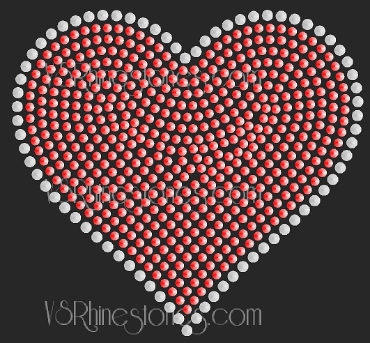 Two Tone Sequin Heart